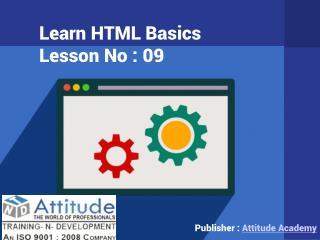 Learn Advanced and Basic HTML - Lesson 9