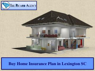 Buy Home Insurance Plan in Lexington SC
