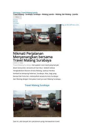Travel Malang Surabaya Abimanyu Travel