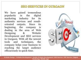 Search Engine Optimization (SEO) Company in Gurgaon