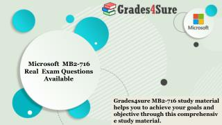 Pass your Microsoft MB2-716 Exam With Dumps