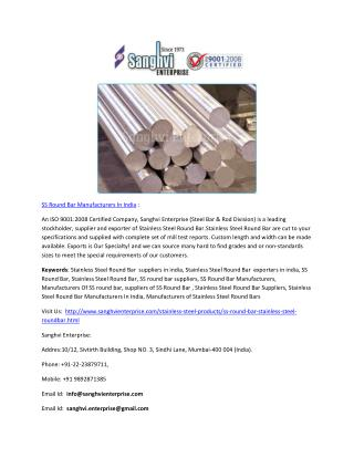 Stainless Steel Tube Manufacturers In India