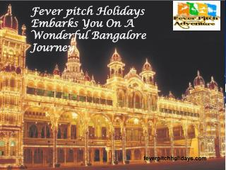 Fever pitch holidays embarks you on a wonderful bangalore journey
