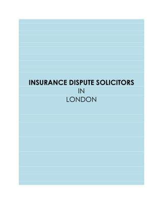 Insurance Disputes | Claims Advice | Policy Holder Dispute Claims