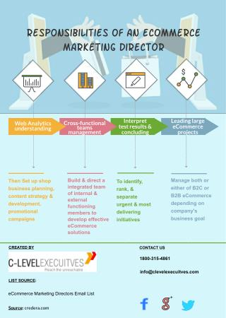 Roles of an E-Commerce Marketing Directors