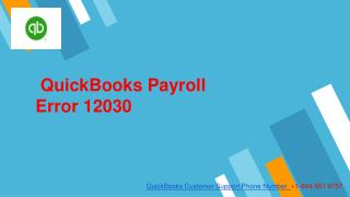QuickBooks payroll error 12030
