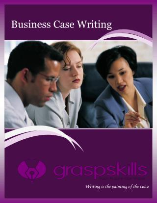 BUSINESS CASE WRITING TRAINING