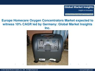 Homecare Oxygen Concentrators Market to grow at 12.0% CAGR from 2016 to 2023