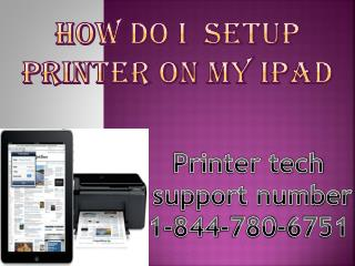 How do I  setup printer on my ipad