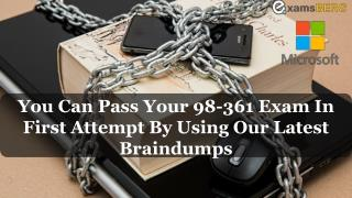 Pass your Microsoft 98-361 Exam With Dumps