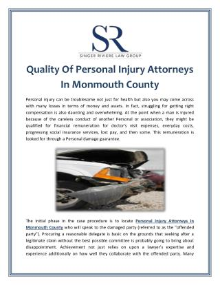 Quality Of Personal Injury Attorneys In Monmouth County