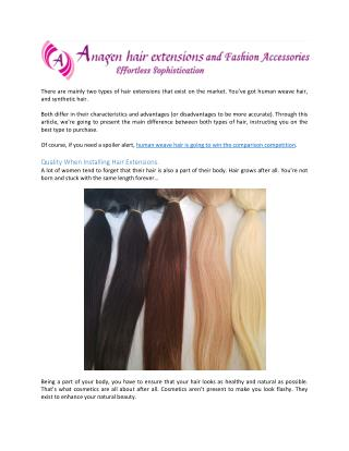 Human Hair Weave: Your Best Choice for Hair Extensions
