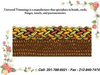 Trimmings Manufacturers And Fabric, Designer