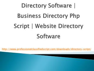 Directory Software   business directory php script   Website Directory Software