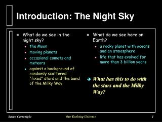 Introduction: The Night Sky