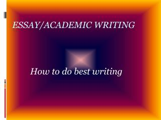 How to do best writing