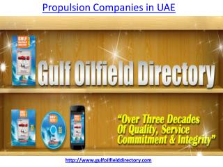 Which is the leading best propulsion companies in UAE