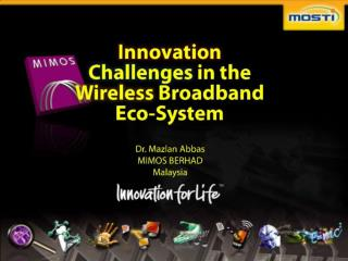Innovation Challenges in the Wireless Broadband Eco-System