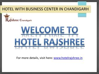Chandigarh Hotel Facilities: Business Centre At Hotel Rajshree