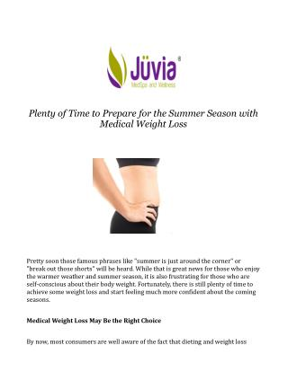 Medical Weight Loss in Summer Season at Southlake