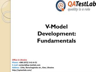 V-Model Development: Fundamentals
