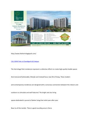 2 & 3 bhk flats in chandigarh & Zirakpur | 3 BHK Flats in chandigarh | Flats in zirakpur