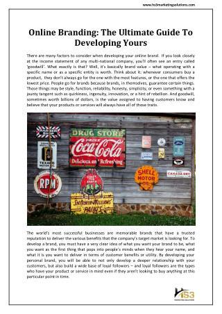 Develop Online Brand in Dallas - HS3 Marketing Solutions
