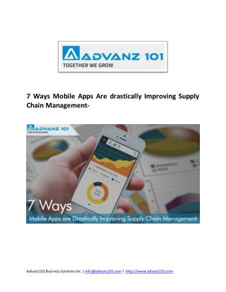 Mobile-Apps-Improving-Supply Chain-Management Solution-San Jose,USA