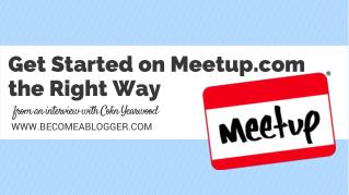 How to Use Local Meetups to Build an Audience - with Colin Yearwood