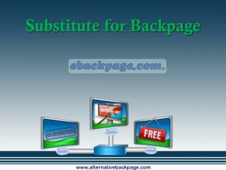 Substitute for backpage
