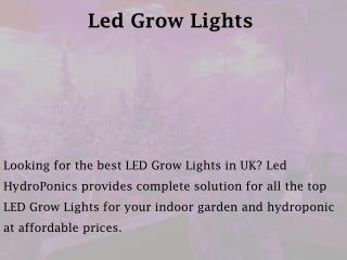 Led Grow Lights - ledhydroponics.co.uk