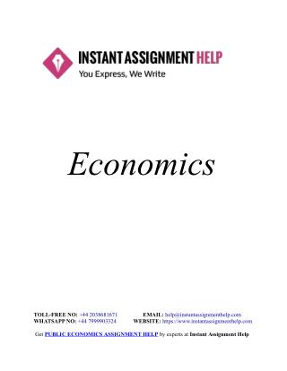 Economics Assignment Sample - Instant Assignment Help