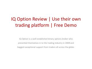 IQ Option Review | Binary Trading Global