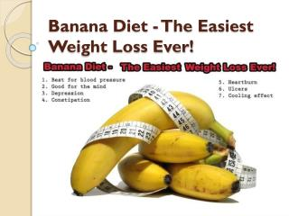 Banana Diet - The Easiest Weight Loss Ever!