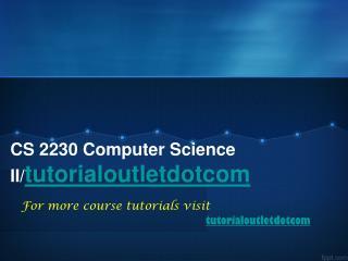 CS 2230 Computer Science II/tutorialoutletdotcom