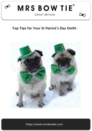 Top tips for any St Patricks Day outfits