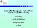 Renewable Energy and Natural Gas: from Crisis to Opportunity