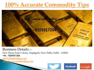 100% Accurate Commodity Tips