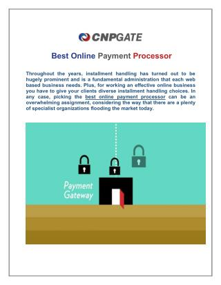 CNP Gates are the Best Online Payment Processor