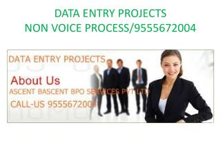 Data Entry Projects | Non Voice Projects | data entry works