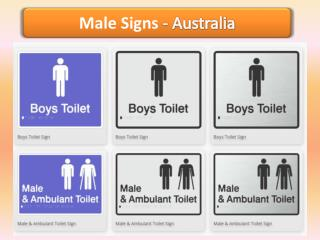 Male Signs -  Braille Sign Distributors