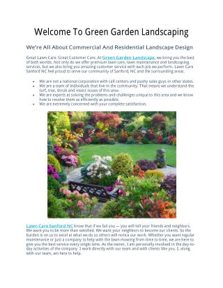 Ppt Welcome To Green Garden Landscaping Powerpoint Presentation Free Download Id 7546787