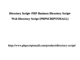 Directory Script- PHP Business Directory Script- Web Directory Script