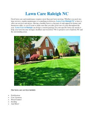 Lawn Care Raleigh NC