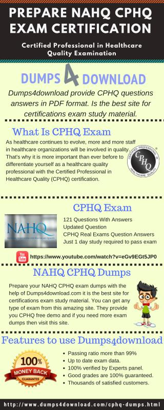 CPHQ Dumps - Pass NAHQ CPHQ Exam - Dumps4download