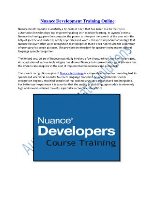 Enhance Your Knowledge on Nuance Development Technology