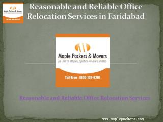 Some of the salient features of office relocation services in Faridabad