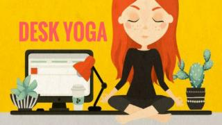 Desk Yoga Poses to Relief stress and Back Pain