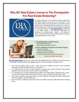 BC Real Estate License