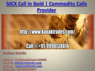 MCX Call in Gold | Commodity Calls Provider